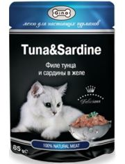 Филе тунца и сардины в желе