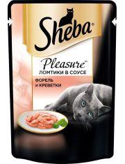 Pleasure ломтики в соусе форель и креветки