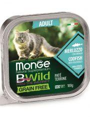 BWild GRAIN FREE беззерновые консервы из трески с овощами