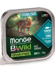 BWild GRAIN FREE беззерновые консервы из тунца с овощами для стерилизованных кошек