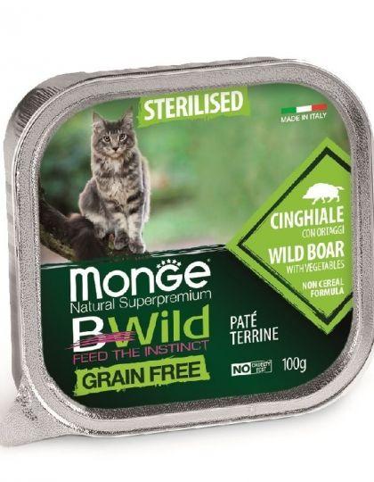 BWild GRAIN FREE беззерновые консервы из кабана с овощами для стерилизованных кошек