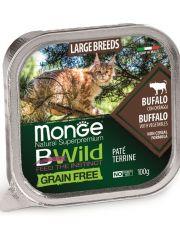BWild GRAIN FREE беззерновые консервы из буйвола с овощами для кошек крупных пород