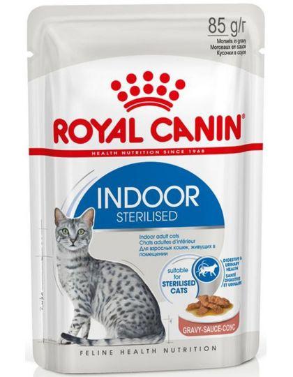 Indoor Sterilized (в соусе) для кошек постоянно живущих в помещении