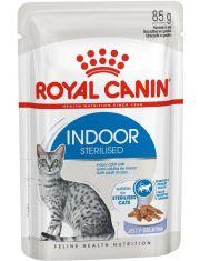 Indoor Sterilized кусочки в желе для кошек постоянно живущих в помещении