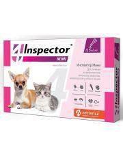 Inspector MINI капли для кошек и собак от 0,5 до 2 кг от внешних и внутренних паразитов