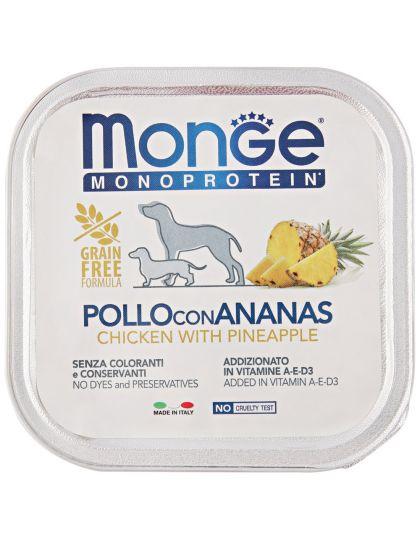 Monoprotein Fruits консервы для собак паштет из курицы с ананасом