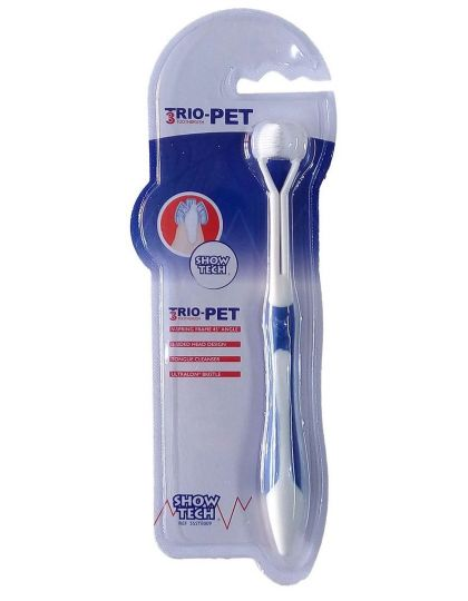 TRIO-PET TOOTHBRUSH зубная щетка 3-х сторонняя