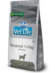 Vet Life Dog Neutered 1-10kg корм для для стерилизованных и кастрированных собак весом до 10 кг