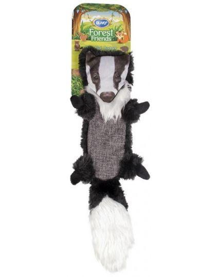 Игрушка для собак Лесной друг Енот, черно-белая