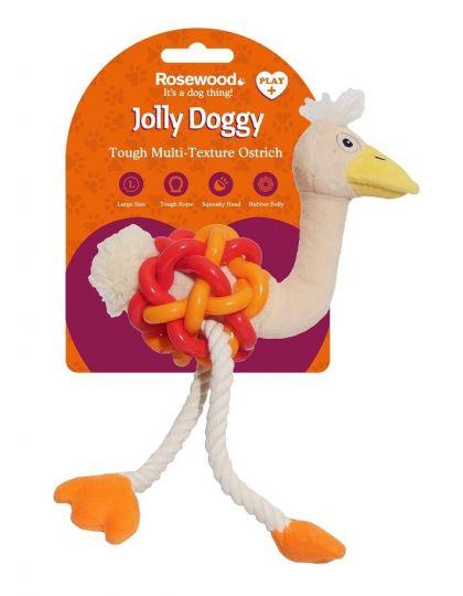 Jolly Doggy Multi Texture игрушка комби Страус для собак