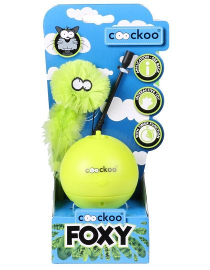 Игрушка для кошек интерактивная Foxy, лайм
