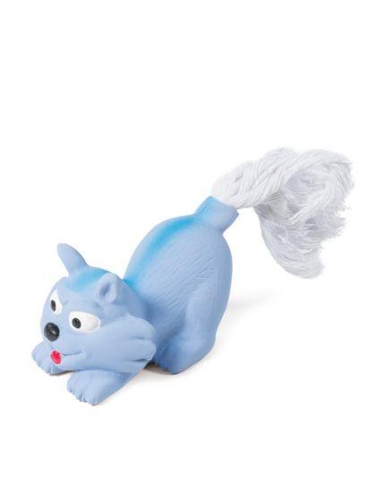 Игрушка MINI DOGS для собак мелких пород из латекса Котенок с веревкой