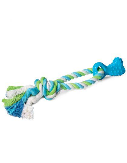 Игрушка для собак Мини-кость с верёвкой