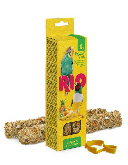Палочки для волнистых попугайчиков и экзотов с тропическими фруктами