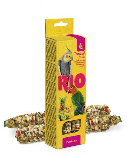 Палочки для средних попугаев с тропическими фруктами