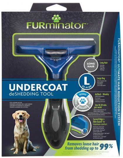 FURminator L для крупных собак с длинной шерстью