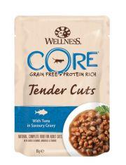 Tender Cuts пауч для кошек нежные кусочки тунца в пикантном соусе