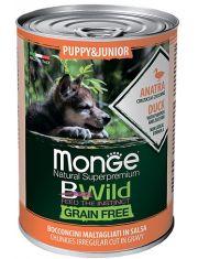 BWild GRAIN FREE Puppy&Junior беззерновые консервы из утки с тыквой и кабачками для щенков всех пород