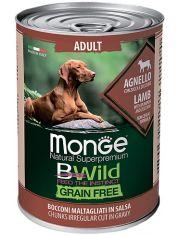 BWild GRAIN FREE беззерновые консервы из ягненка с тыквой и кабачками для взрослых собак всех пород