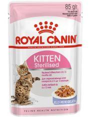 Kitten Sterilised кусочки в желе для стерилизованных котят от 6 до 12 месяцев