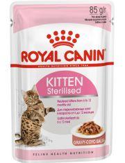 Kitten Sterilised кусочки в соусе для стерилизованных котят от 6 до 12 месяцев