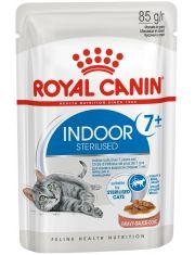 Indoor Sterilized 7+ кусочки в соусе для стареющих кошек, постоянно живущих в помещении (в возрасте от 7 до 12 лет)
