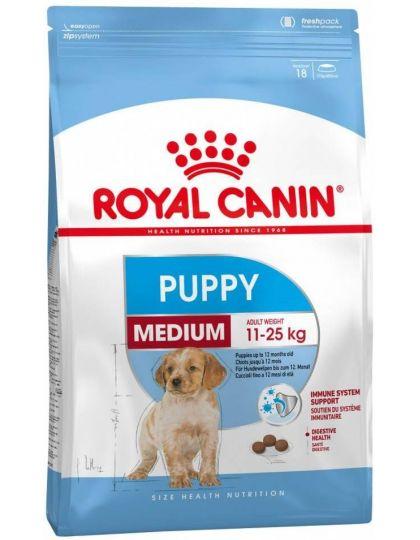 Medium Puppy для щенков средних размеров (вес взрослой собаки от 11 до 25 кг) до 12 месяцев