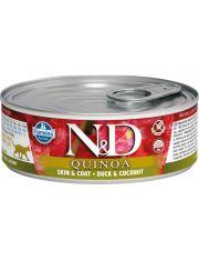 N&D QUINOA Duck&Coconut Skin&Coat беззерновой корм с киноа, уткой и кокосом, здоровье кожи и шерсти