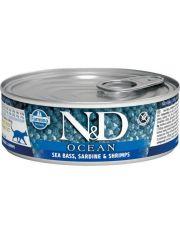 N&D OCEAN Sea Bass, Sardine & Shrimp Adult  беззерновой корм, сибас, сардины и креветки