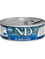 N&D OCEAN Cod & Shrimps & Pumpkin беззерновой корм c треской, креветками и тыквой