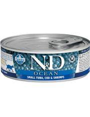 N&D OCEAN Tuna, Cod & Shrimp Adult  беззерновой корм, тунец, треска и креветки