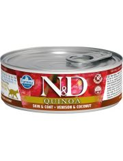 N&D QUINOA Skin&Coat Venison & Coconut  беззерновой корм корм, оленина и кокос, для кожи и шерсти