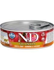 N&D QUINOA Herring & Coconut беззерновой корм, сельдь, киноа и кокос, для красоты шерсти