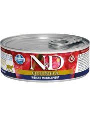 N&D QUINOA Weight Management беззерновой корм, контроль веса