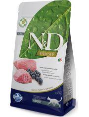 N&D PRIME Lamb & Blueberry беззерновой корм, ягненок, черника, для взрослых кошек