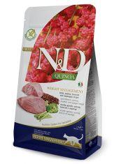 N&D QUINOA Weight Management Lamb беззерновой корм, ягненок, киноа, брокколи и спаржа, контроль веса