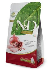 N&D PRIME Chicken & Pomegranate Kitten беззерновой корм, курица, гранат, для котят, беременных и лактирующих кошек