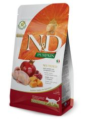 N&D PUMPKIN Quail, Pumpkin and Pomegranate Neutered recipe беззерновой корм, перепел, тыква и гранат для стерилизованных