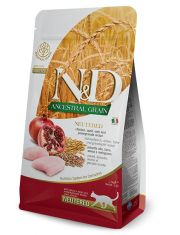 N&D ANCESTRAL GRAIN Chicken & Pomegranate Neutered низкозерновой корм для стерилизованных кошек с курицей и гранатом