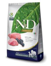 N&D PRIME Lamb & Blueberry Adult Medium & Maxi беззерновой корм для собак средних и крупных пород ягненок с черникой