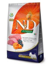 N&D PUMKIN Lamb & blueberry Adult Mini беззерновой корм для взрослых собак мелких пород с ягненком, тыквой и черникой