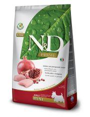 N&D PRIME Chicken & Pomegranate Adult Mini беззерновой корм для взрослых собак мелких пород с курицей и гранатом