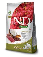 N&D QUINOA Skin & Coat Duck беззерновой корм для собак, здоровье кожи и шерсти, утка, киноа, кокос и куркума
