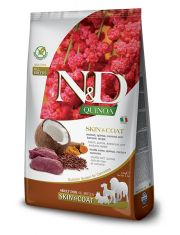 N&D QUINOA Skin & Coat Venison беззерновой корм для собак, здоровье кожи и шерсти, оленина, киноа, кокос и куркума