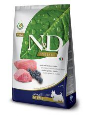 N&D PRIME Lamb & Blueberry Adult Mini беззерновой корм для собак мелких и карликовых пород ягненок с черникой