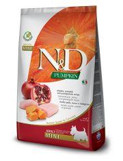 N&D PUMRIN Chicken and Pomegranate Adult Mini беззерновой корм для взрослых собак мелких пород с курицей, тыквой и гранатом