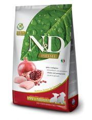 N&D PRIME Chicken & Pomegranate Puppy Mini & Medium беззерновой корм для щенков мелких и средних пород, курица, гранат