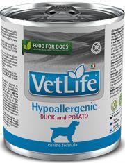 Vet Life Hypoallergenic Duck and Potato (диета) при аллергии или пищевой непереносимости, утка, картофель