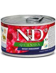 N&D QUINOA Weight Management mini беззерновой корм для контроля веса, для собак мини пород, ягненок, брокколи, киноа