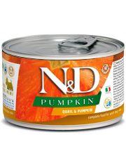 N&D PUMKIN Quail & Pumpkin Adult Mini беззерновой корм для взрослых собак малых пород с перепелом и тыквой